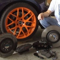 """05-14 Mustang GT500 15"""" Brembo Brake Kit Install - Ford Racing M-2300-T"""